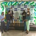 Presidente da câmara, vereador Carlos da Liga, participa de inauguração de escola para alunos com necessidades especiais
